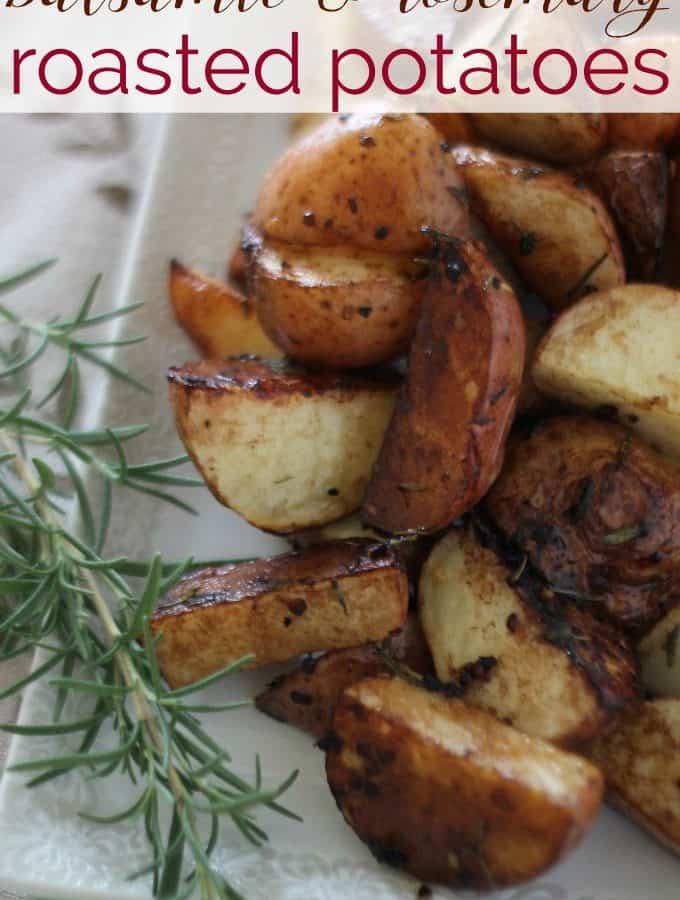Balsamic Rosemary Roasted Potatoes