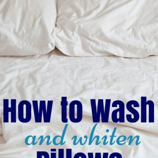 How to wash and whiten pillows over white pillows and sheets
