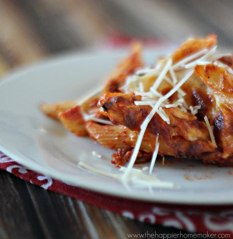 baked penne recipe weeknight easy dinner