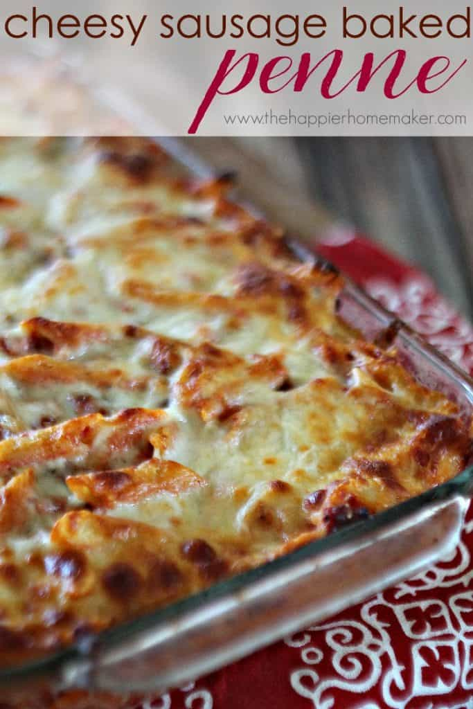 cheesy sausage baked penne