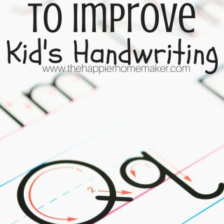 A drawing of how to improve kid's handwriting