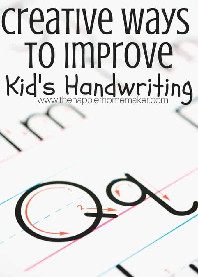 creative ways to improve handwriting