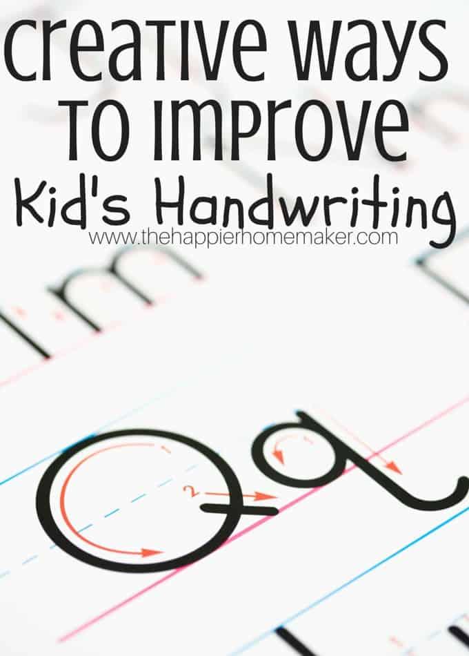 creative ways to improve handwriting