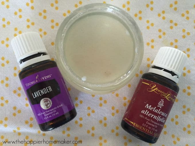 A close up of two essentials oils that can create a DIY all natural bug bite balm