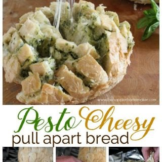Pesto Cheesy Pull Apart Bread (aka Crack Bread)