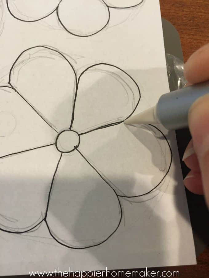 tracing flower