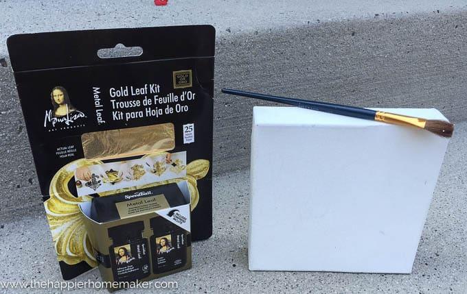 DIY Gold Leaf Canvas-1-2