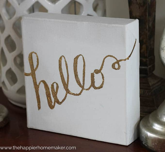 DIY Gold Leaf Canvas-3