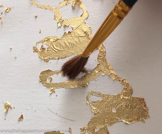DIY Gold Leaf Canvas-4