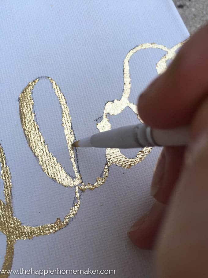 DIY Gold Leaf Canvas-7