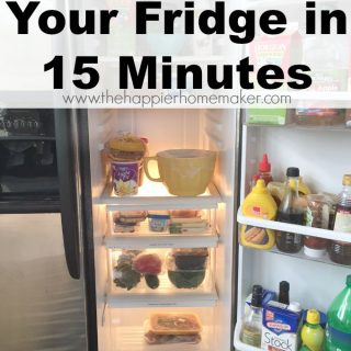 how to clean your fridge in 15 minutes