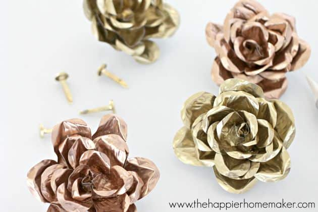 how to make metal roses