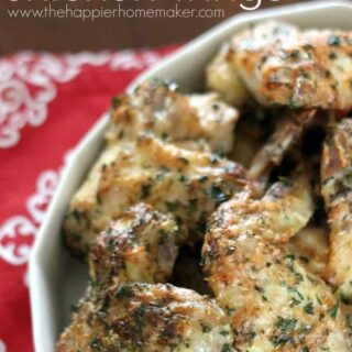 Parmesan Herb Chicken Wings