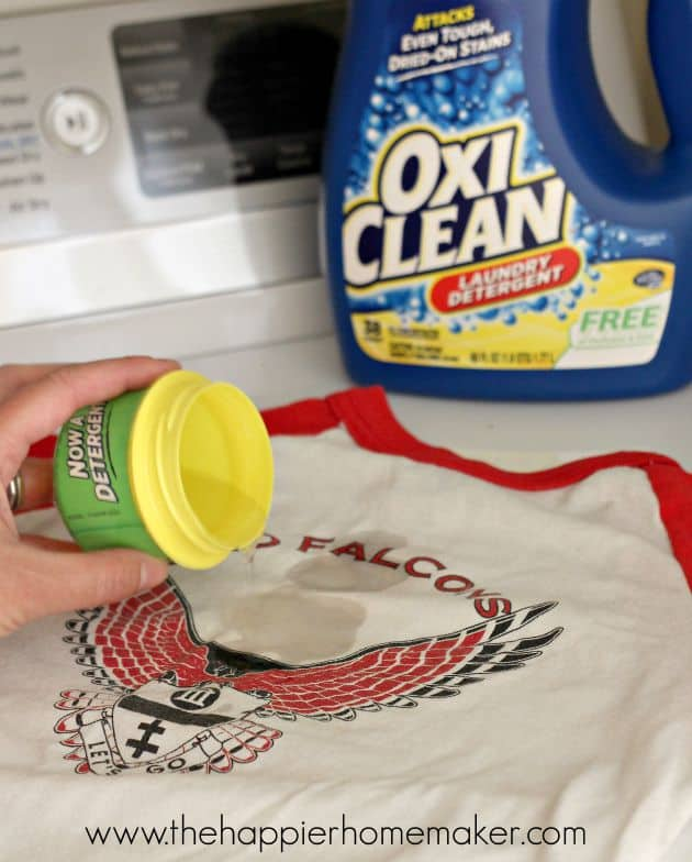pretreating with oxiclean