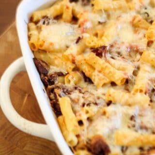 Cheesy Bacon Baked Ziti Recipe