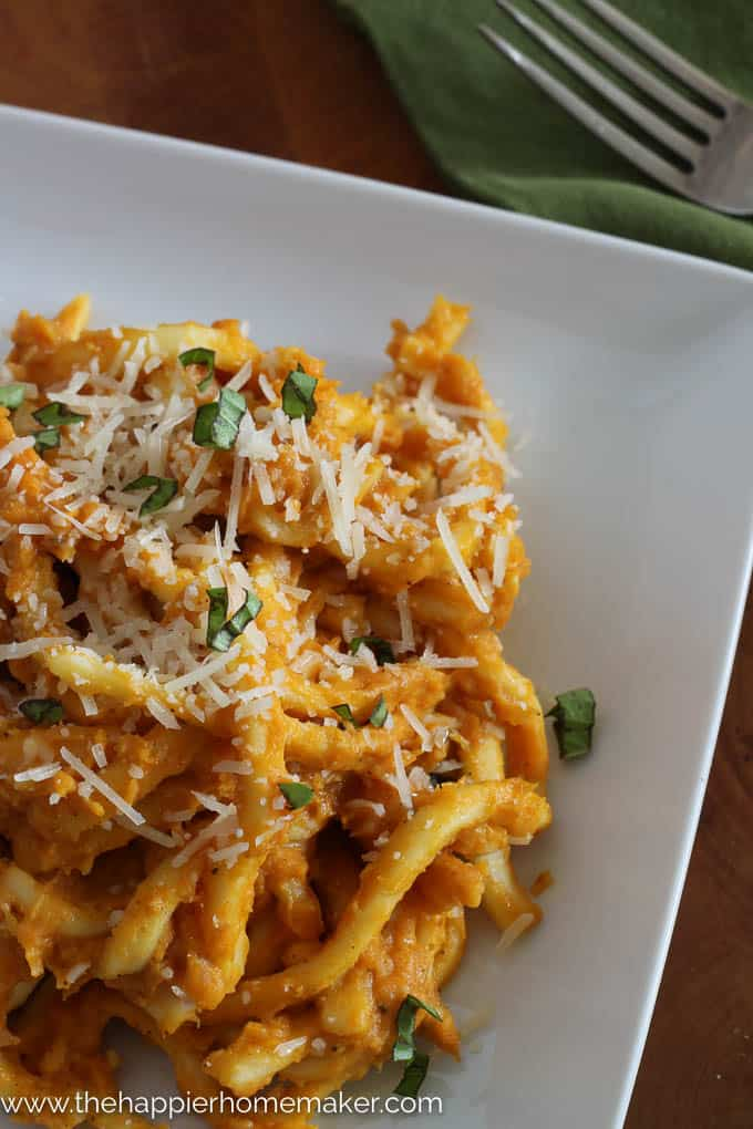 Creamy Pumpkin Pasta-3