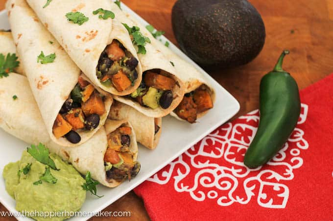 Sweet Potato Black Bean Taquito-2