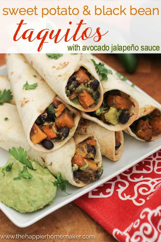 Sweet Potato Black Bean Taquito recipe