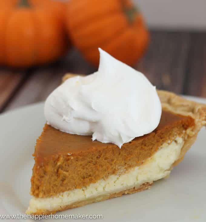Layered Cheesecake Pumpkin Pie | The Happier Homemaker