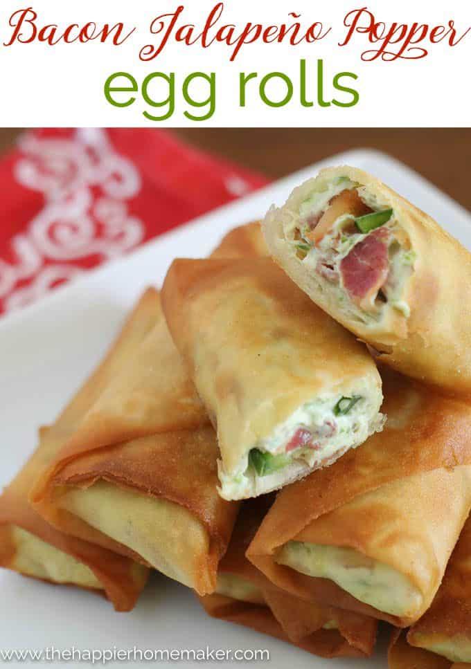 Bacon Jalapeño Popper Egg Roll Recipe