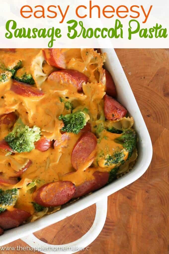 Cheesy Sausage Broccoli Pasta recipe