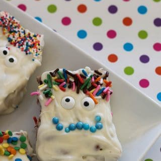 White monster chocolate covered cereal treats