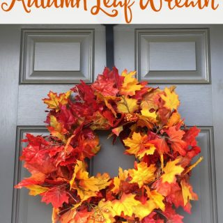 5 Minute Autumn Leaf Wreath