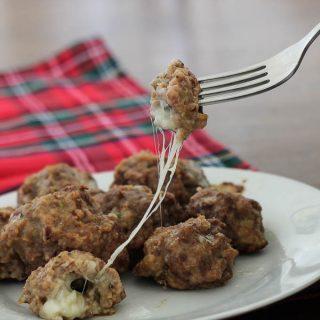 Cheese Stuffed Baked Meatballs