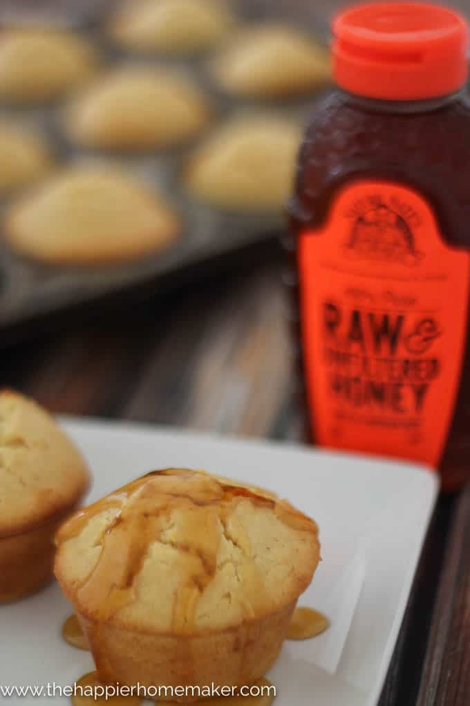 Honey Cornbread Muffins-6