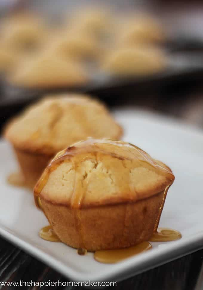 Honey Cornbread Muffins | The Happier Homemaker