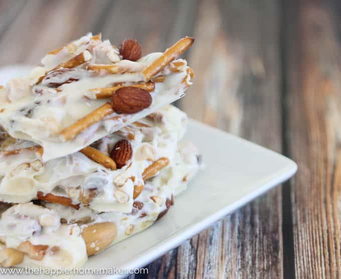 White Chocolate Pretzel Nut Bark-3