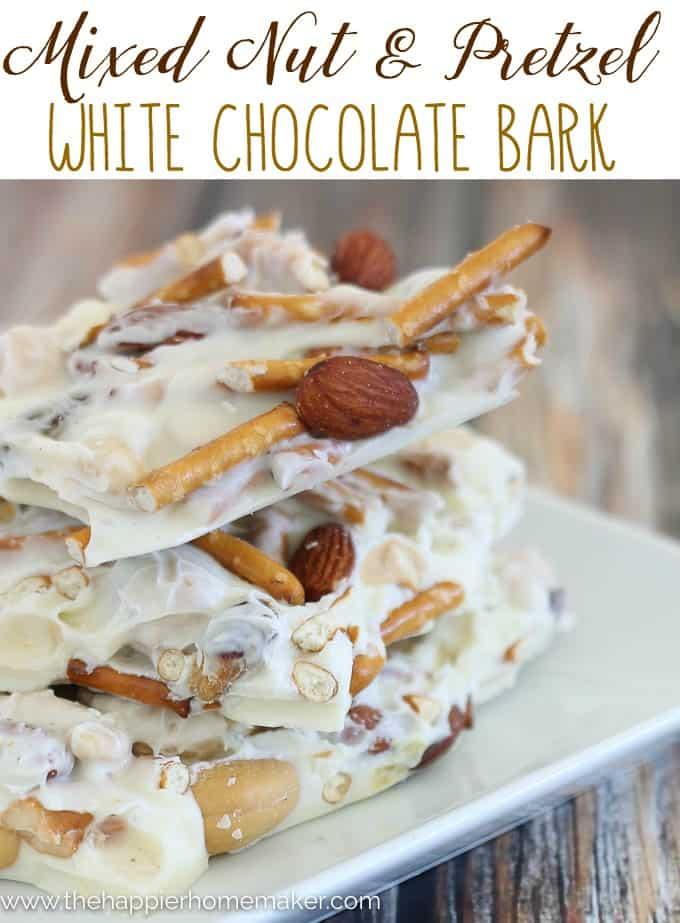 White Chocolate Pretzel Nut Bark Recipe