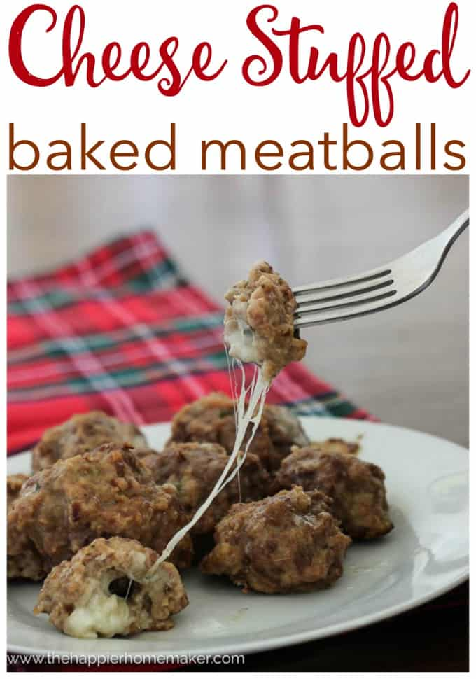 cheese stuffed baked meatball recipe