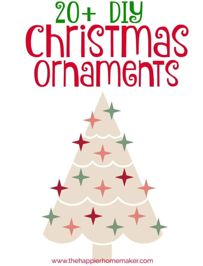 How fun! Over 20 DIY Christmas Ornaments you can make yourself-stuff for the kids as well as some really gorgeous sophisticated ornaments! LOVE!