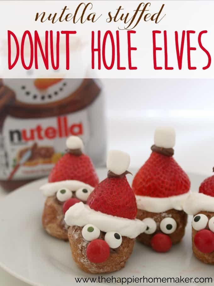 nutella stuffed donut hole elves