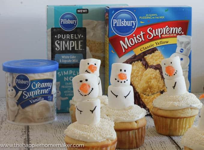 snowman cupcakes-3