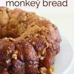 A close up of baklava monkey bread on a white dish