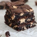 Chocolate Fudge Reese's Cookie Bars-4