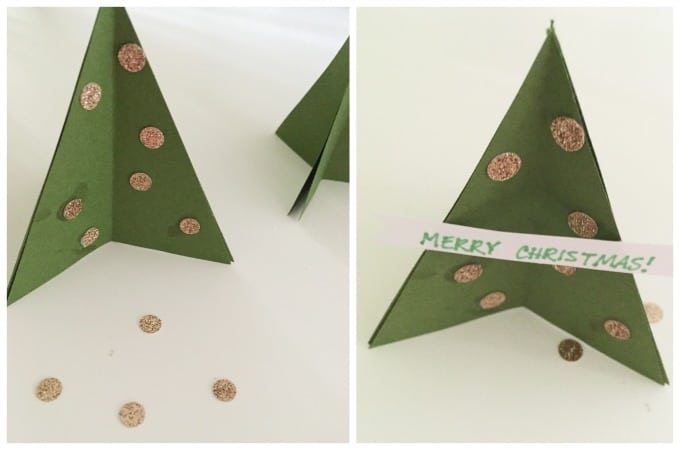Christmas tree placecard tutorial