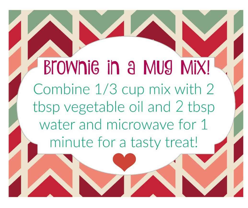 brownie in a mug mix