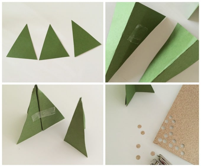diy christmas tree placecard tutorial