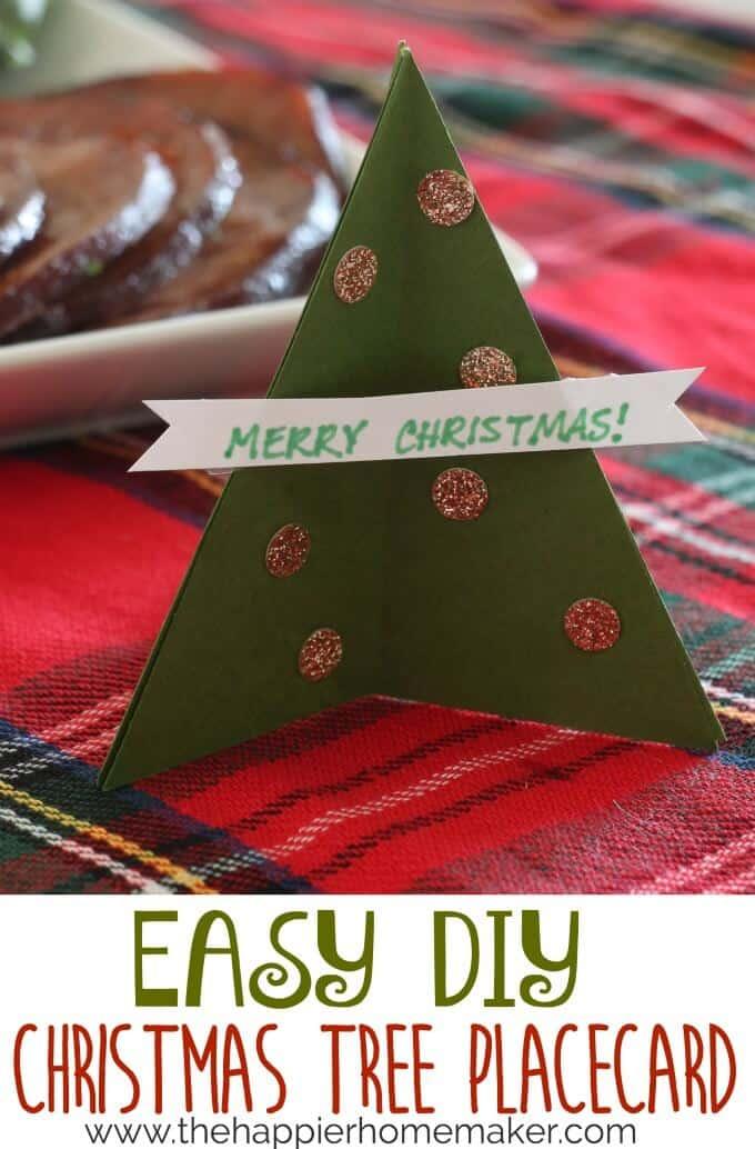 diy christmas tree placecard