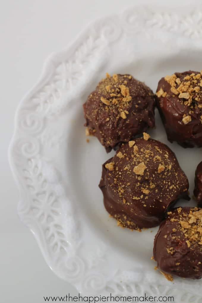 easy smores truffles