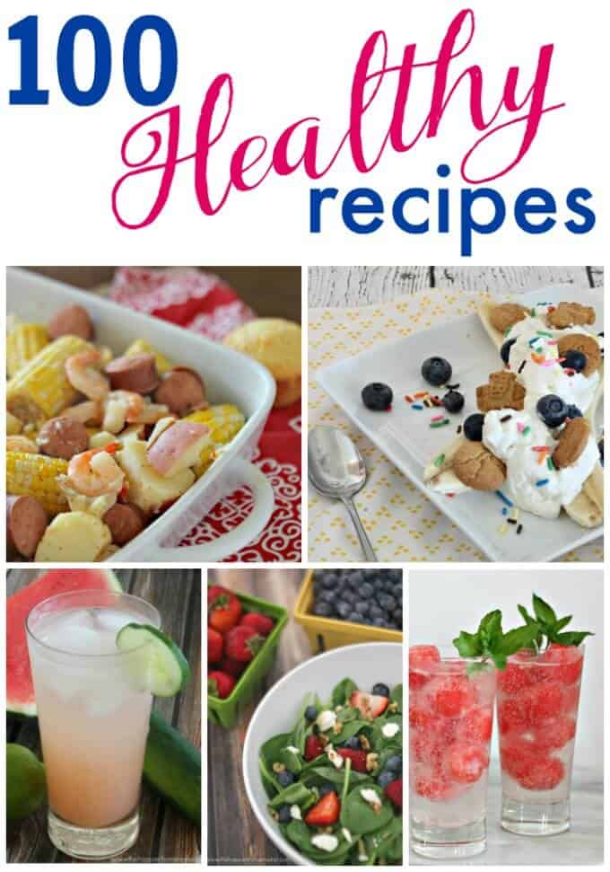 Over 100 healthy recipes that will get you on track without being boring or bland!