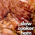 slow cooker ham close photo