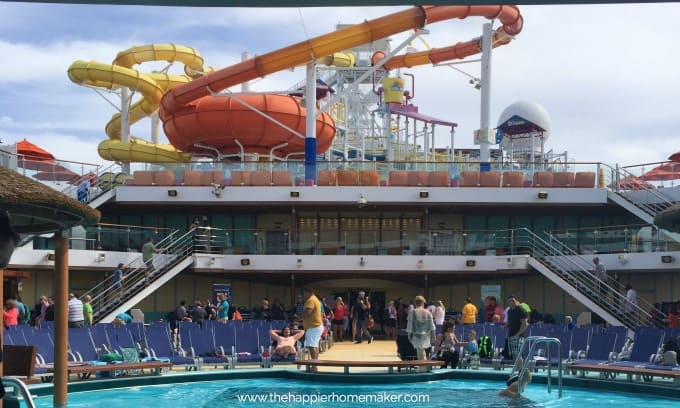 carnival breeze pool and waterslides