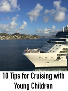 cruise chip in port with text 10 tips for cruising with young children