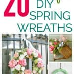 20 beautiful DIY Spring Wreaths that you can make yourself!
