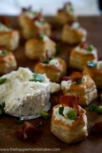 boursin and bacon stuffed puff pastries