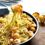 Lemon and Garlic combine with shrimp and buttery noodles for an easy 15 minute weeknight dinner!